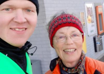 Ann som gick med från Malmö hela vägen till Falsterbo!